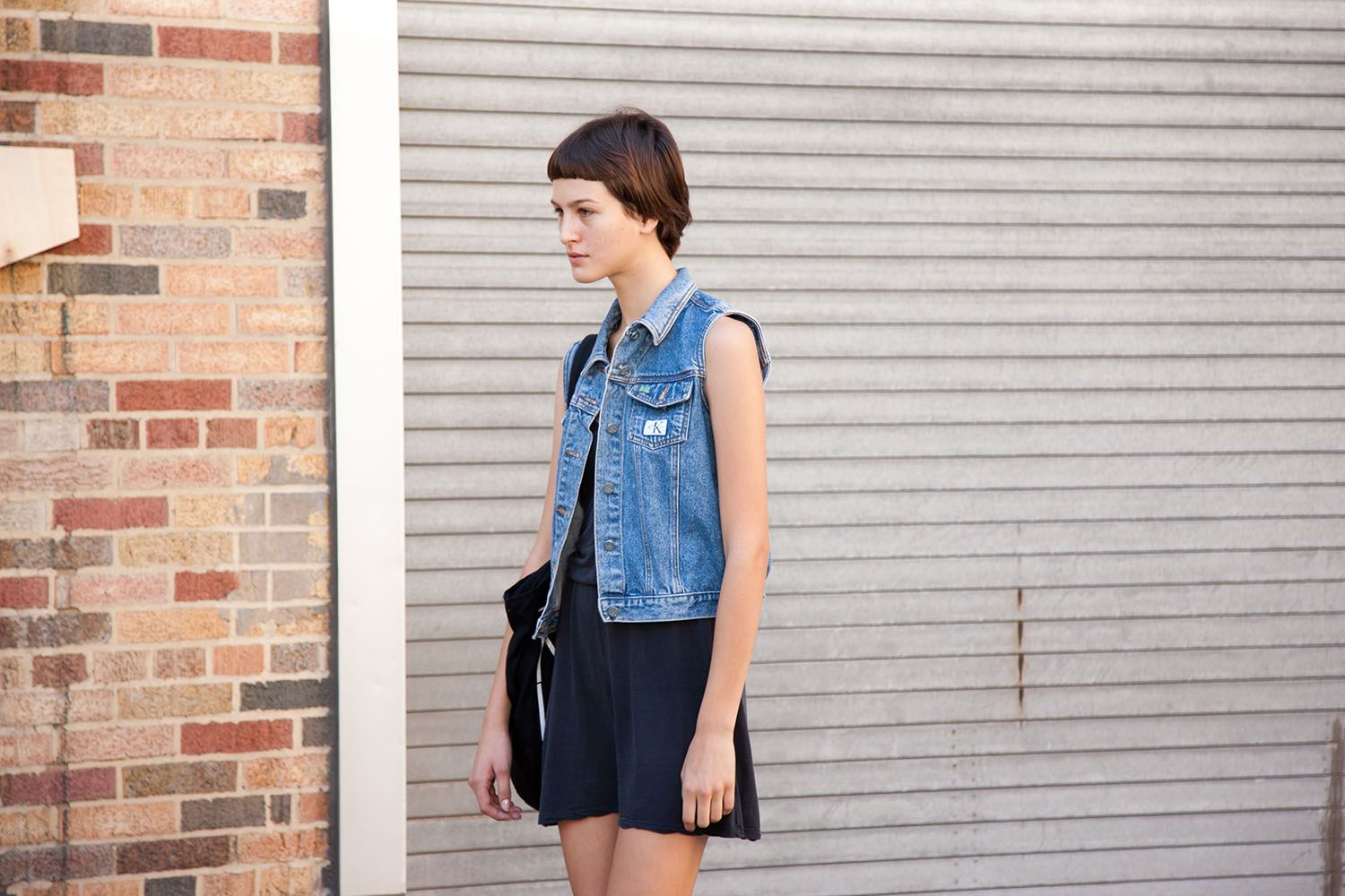 Our obsession with denim waistcoats continues.