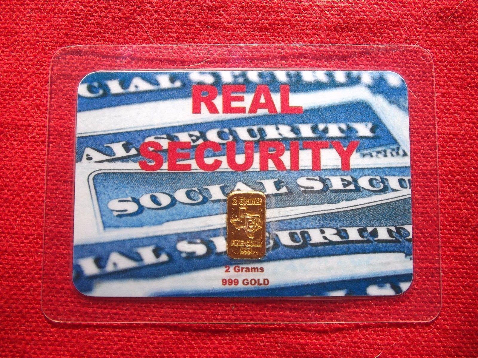 2 gram GOLD TGR BULLION REAL SECURITY EDITION 999 Bar Sealed In Assay card L@@K.
