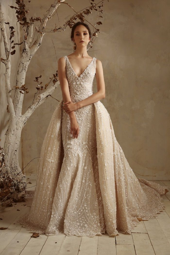 57 Stunning Wedding Dresses With Detachable Skirts