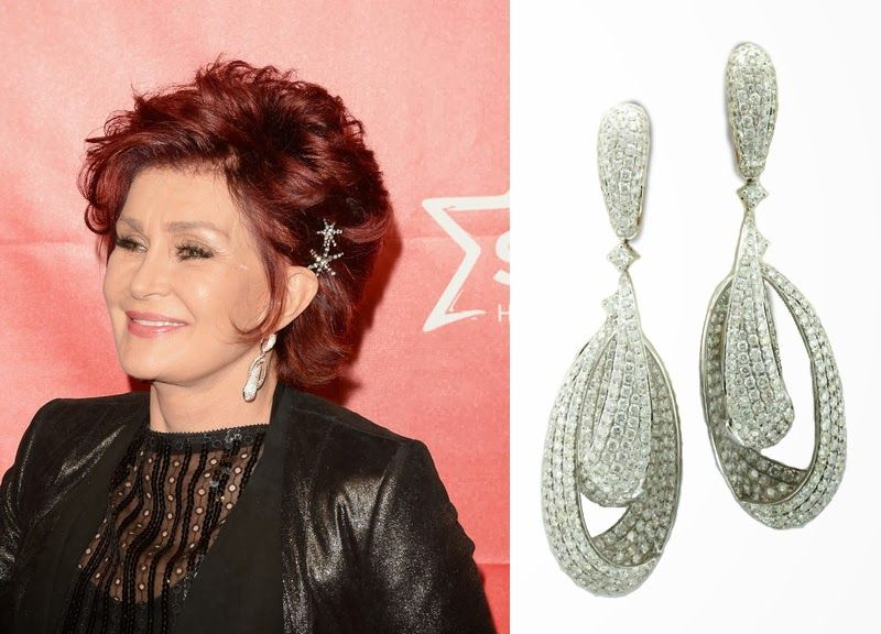 Sharon Osbourne At The Musicares Person Of Year Gala On January Elegantly Dressed In Black Wearing Dramatic Le Vian Vanilla Diamonds Earrings