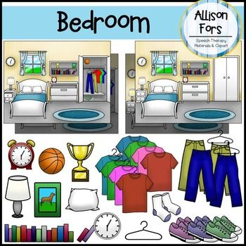 Bedroom Clip Art Set Images There Are 8 Diffe Variations Of The Scene To Suit Your Needs Day Or Night Closet Drawers Open Closed Items Included