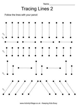 Tracing Lines 2 | Малыши | Pinterest | Worksheets and Alphabet ...