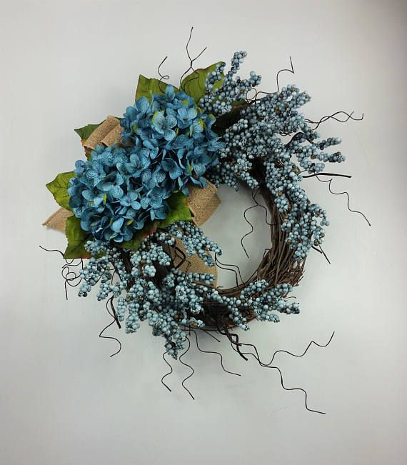 Hydrangea wreath Everyday wreath Rustic wreath Farmhouse