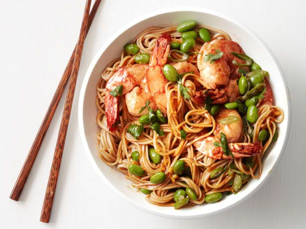 Asian noodles with shrimp and edamame recipe asian noodles asian noodles with shrimp and edamame forumfinder Image collections