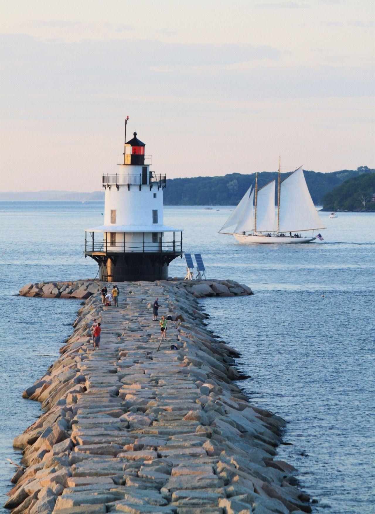 Spring Point Ledge Light South Portland Maine