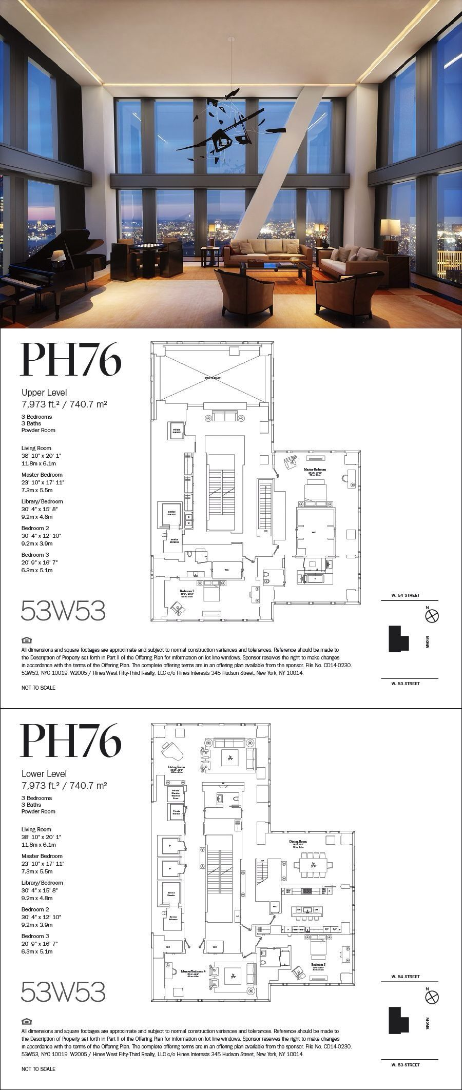 53 West 53rd Street Ph76 Nyc Real Estate House Plans Floor Plans