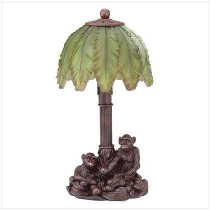 Monkeys And Palm Tree Lamp Tree Lamp Lamp Diy Lamp Shade