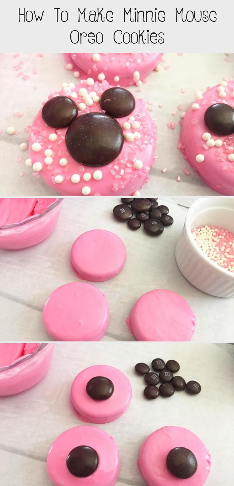 Photo of Tutorial on how to make Minnie Mouse Oreo Cookies easily! These Minnie Mouse Ore…