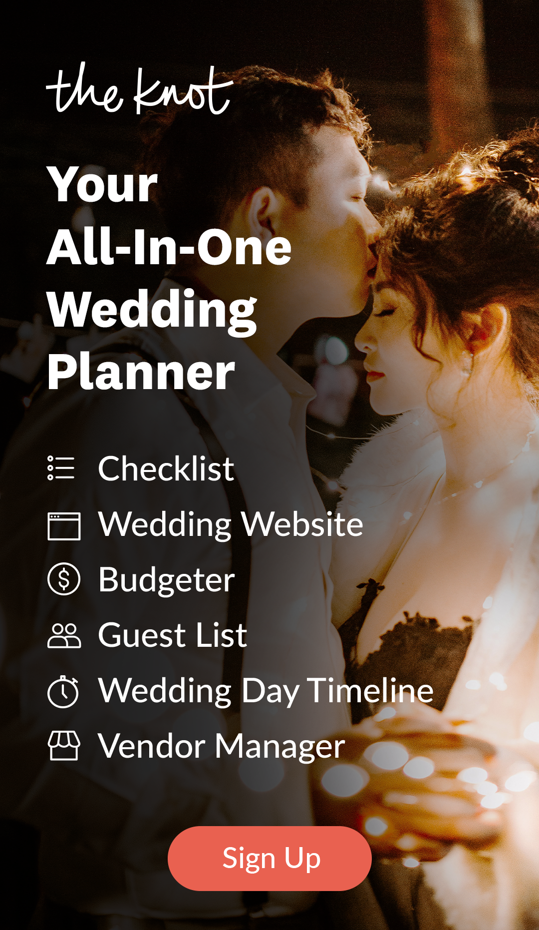 Plan your wedding with The Knot. Wedding planner