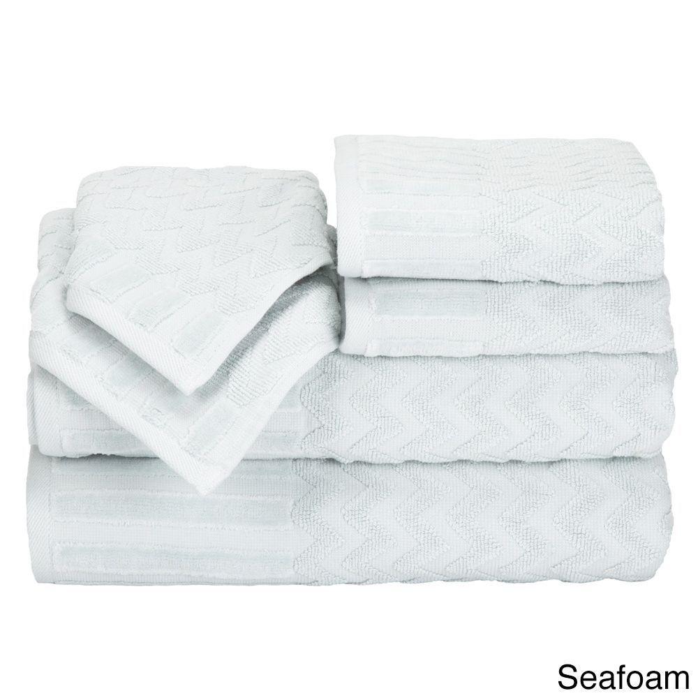 Windsor home chevron cotton piece towel black windsor fc