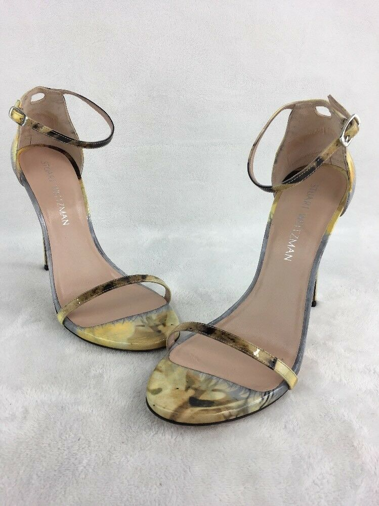 191487089de8 Stuart Weitzman Nudist Multi Aniline Evening Sandals Size 9M D2384   fashion   clothing