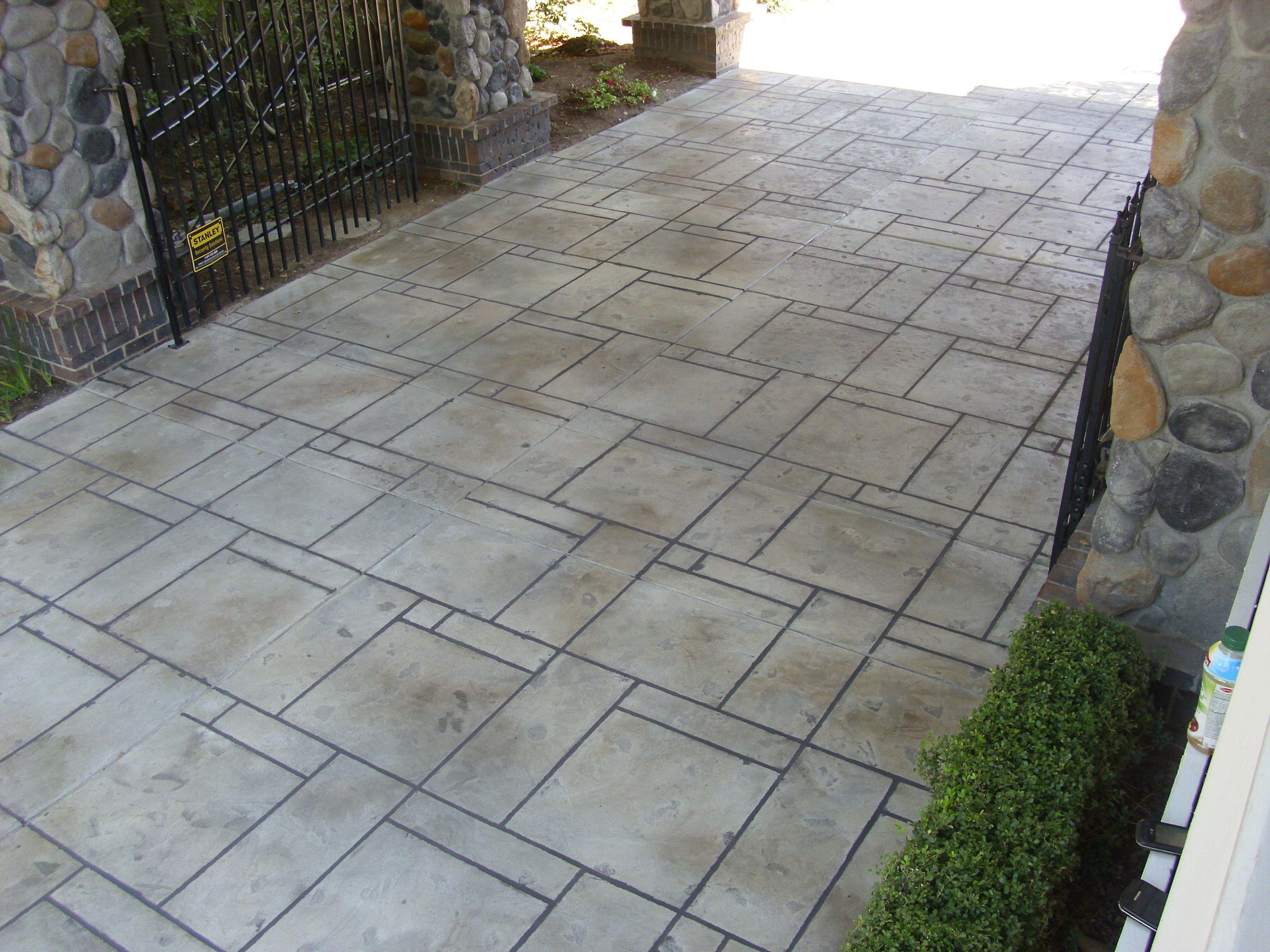 Decorative Concrete Overlay Sundek Custom Design Driveway Decorative Concrete Overlay Www
