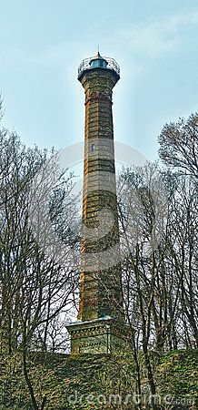 Alter Leuchtturm und sein Architektur   Elemente.