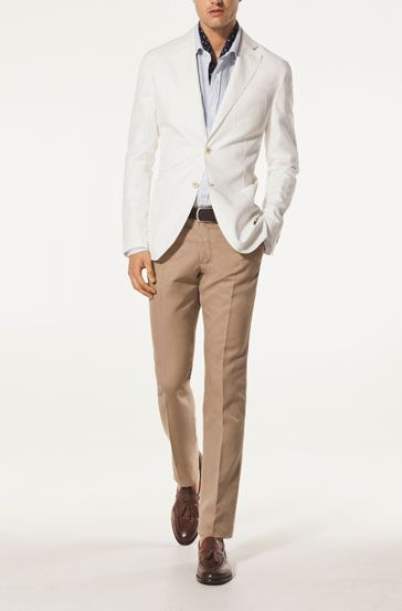 AMERICANA LINO BLANCO - Americanas - MEN - MEN - España Clothes - americana sportswear