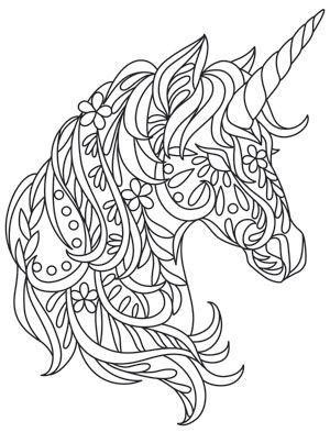 Pin By Melissa Margaret On Winter Boho Unicorn 1st Birthday Unicorn Coloring Pages Coloring Pages Quilling Patterns