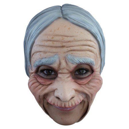Funny People Masks Old Man Grandad Granny Latex Chinstrap Mask Fancy Dress