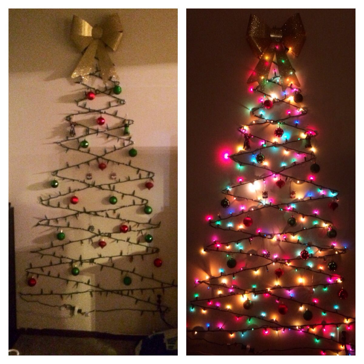 DIY Christmas tree. Cheap, easy and space friendly way to