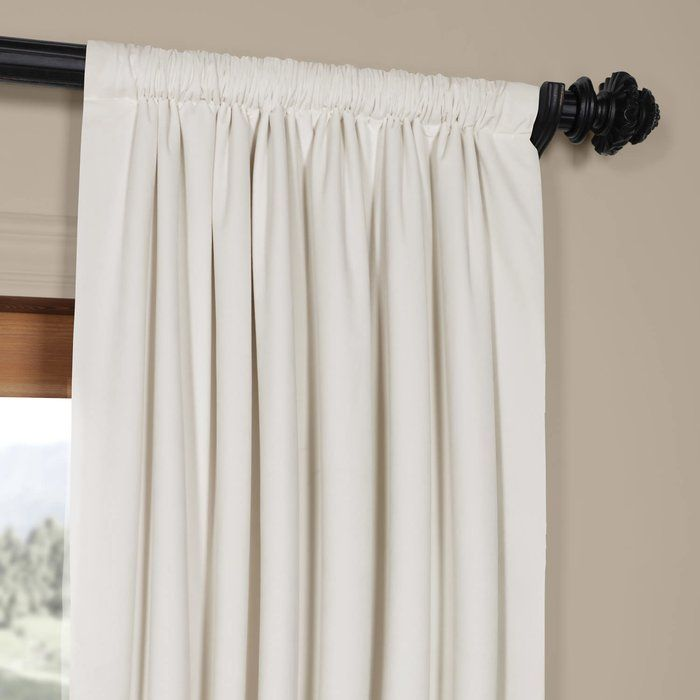 Thalia Velvet Blackout Single Curtain Panel Curtains Half Price Drapes Drapes Curtains