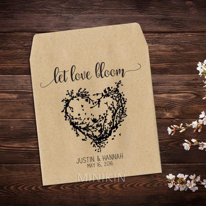 Wedding Seed Packets Rustic Heart Wreath – W-A126