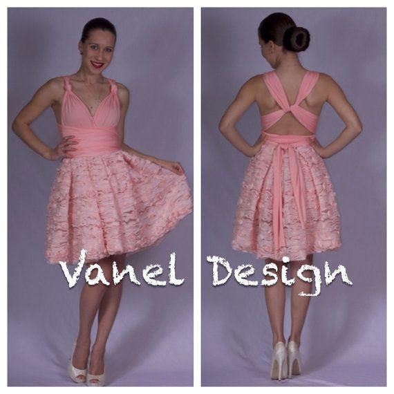 50603fbbcc Cute pink convertible dress