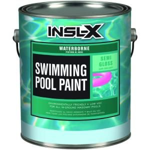 Insl X 1 Gal Semi Gloss Water Ocean Blue Swimming Pool Paint Wr1023 The Home Depot Pool Paint Swimming Pools Tank Pool