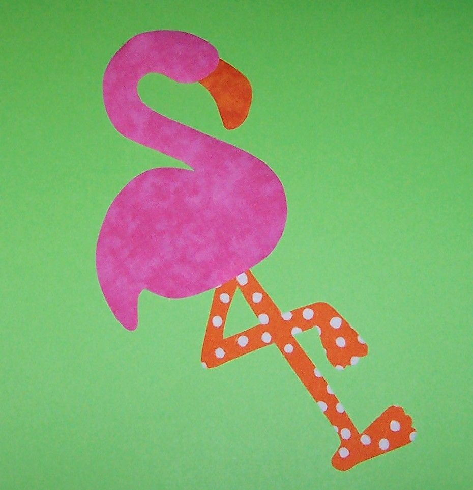 Fabric Applique TEMPLATE Pattern Only FLAMINGONew by etsykim ...