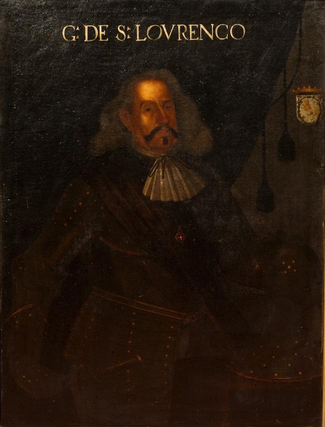 Retrato de D. Martim Afonso de Melo, 2.º Conde de São Lourenço (1595?-1671), pintado em 1673-1675 por Feliciano de Almeida.  Foi um nobre português do século XVII e dos 40 Conjurados que executaram o golpe palaciano do 1º de Dezembro de 1640.