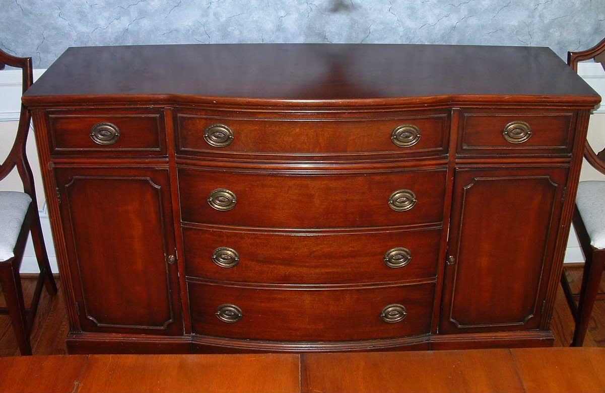 Decoration Ideas Duncan Phyfe 1940s 9 Piece Mahogany Dining Room