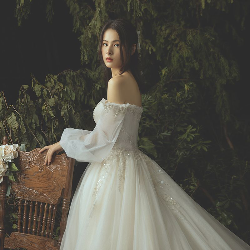 Dressv Ivory Wedding Dress Strapless Long Sleeves Chapel: 2020的Luxury / Gorgeous Ivory Wedding Dresses 2019 Ball