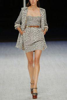 light gray leopardprint jacquard corset dress  matthew