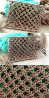 Photo of Detail of a perforated knitting pattern for summer scarves and vests …