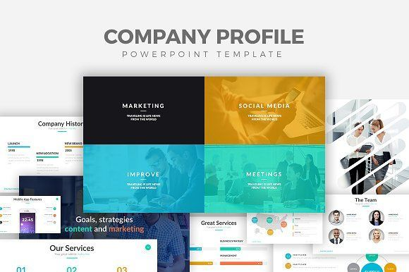 Company Profile Powerpoint Template By Rocketo Graphics On