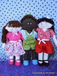Bonecos Inclusão Social by Litta Santos http://littasantos.blogspot.com.br/