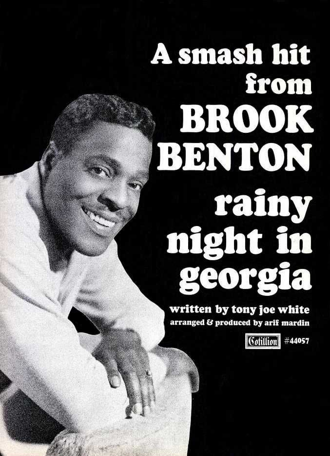 Image result for brook benton rainy night in georgia