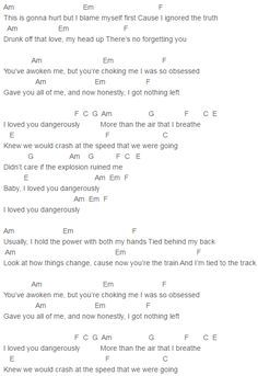 charlie puth nine track mind dangerously chords lyrics for guitar ukulele piano keyboard with strumming