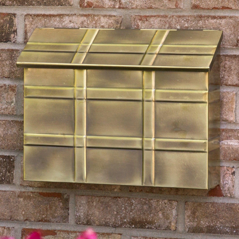 151 95 Grid Wall Mount Brass Mailbox Antique Brass Wall Mount Wall Mount Mailbox Mounted Mailbox