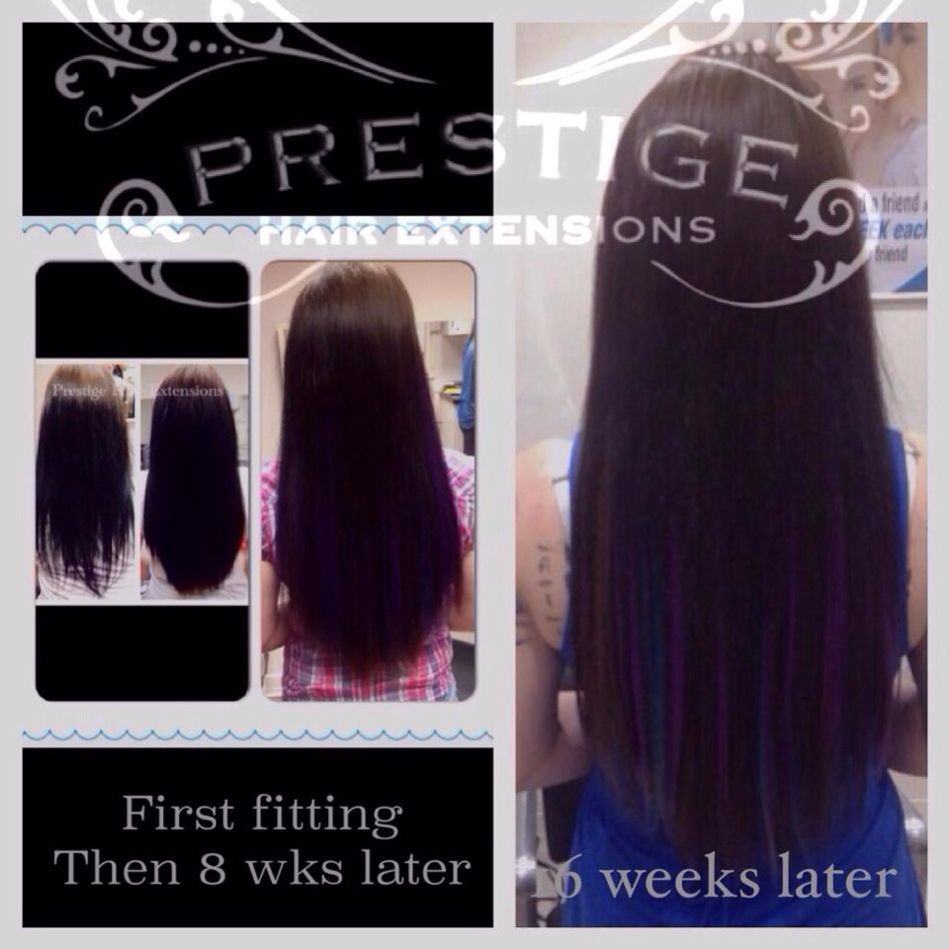 Purple And Blue Flashes In Brown Prestige Keratin Bonded Hair