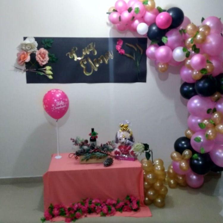 Decoracion Rosa Con Dorado