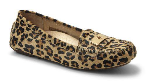 53d90d21ca69 Vionic Shoes Sydney in Tan Leopard  Loafers for Women
