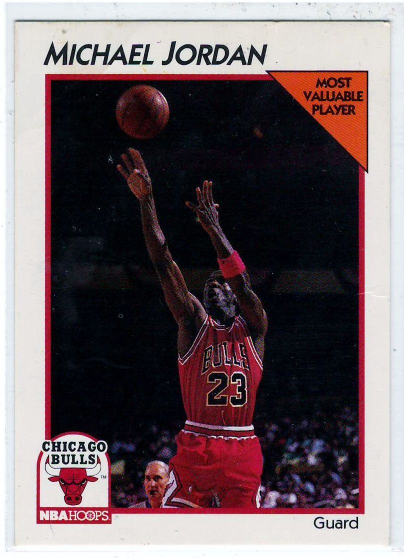 sports cards basketball 1991 nba hoops michael jordan. Black Bedroom Furniture Sets. Home Design Ideas