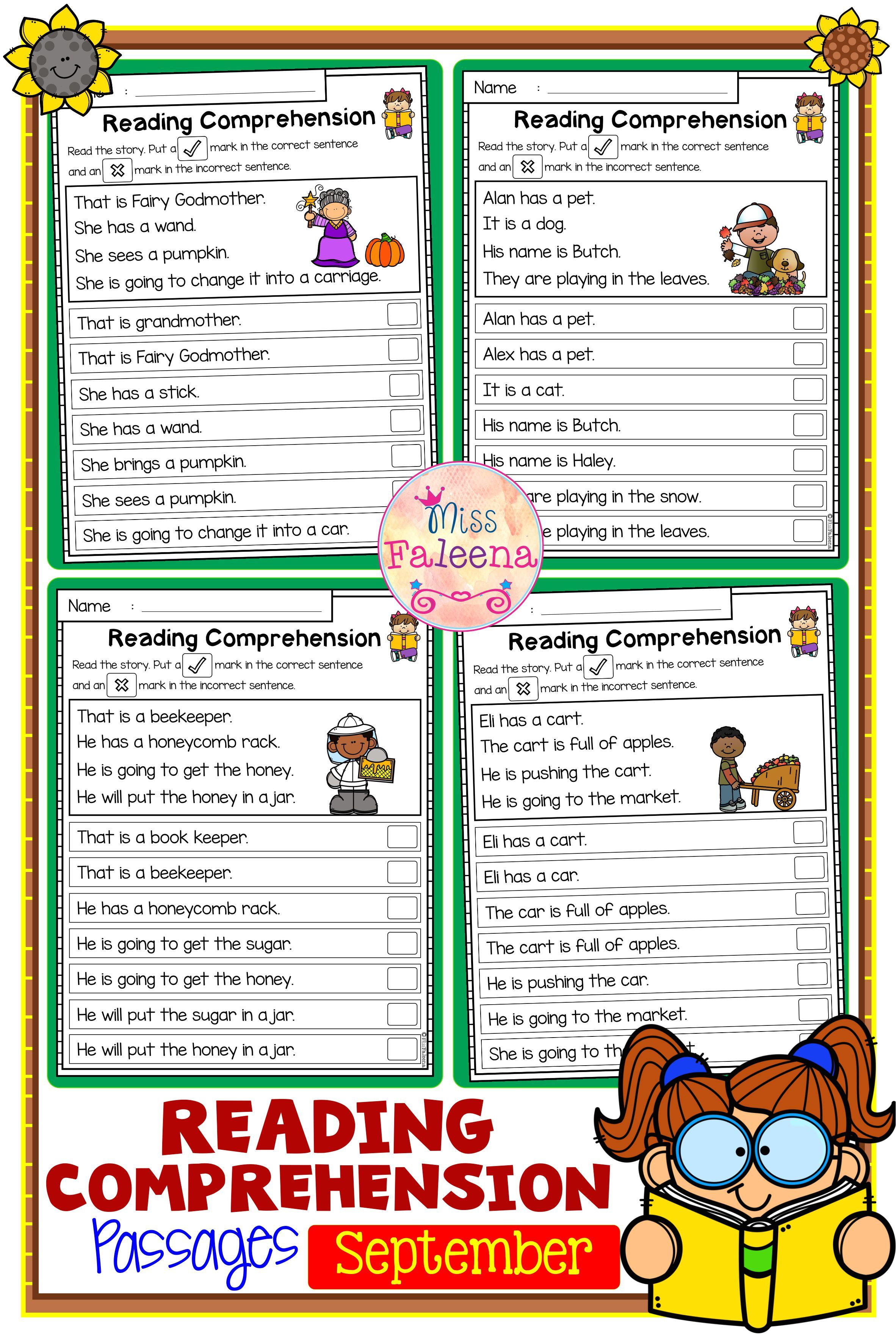 September Reading Comprehension Passages In