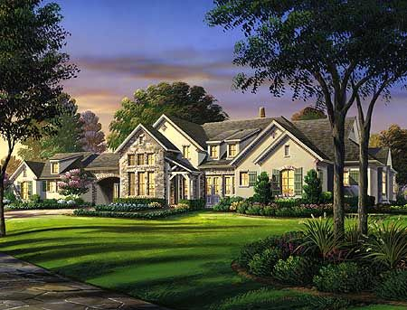 Plan W54113BH: Traditional, French Country, European House Plans ...