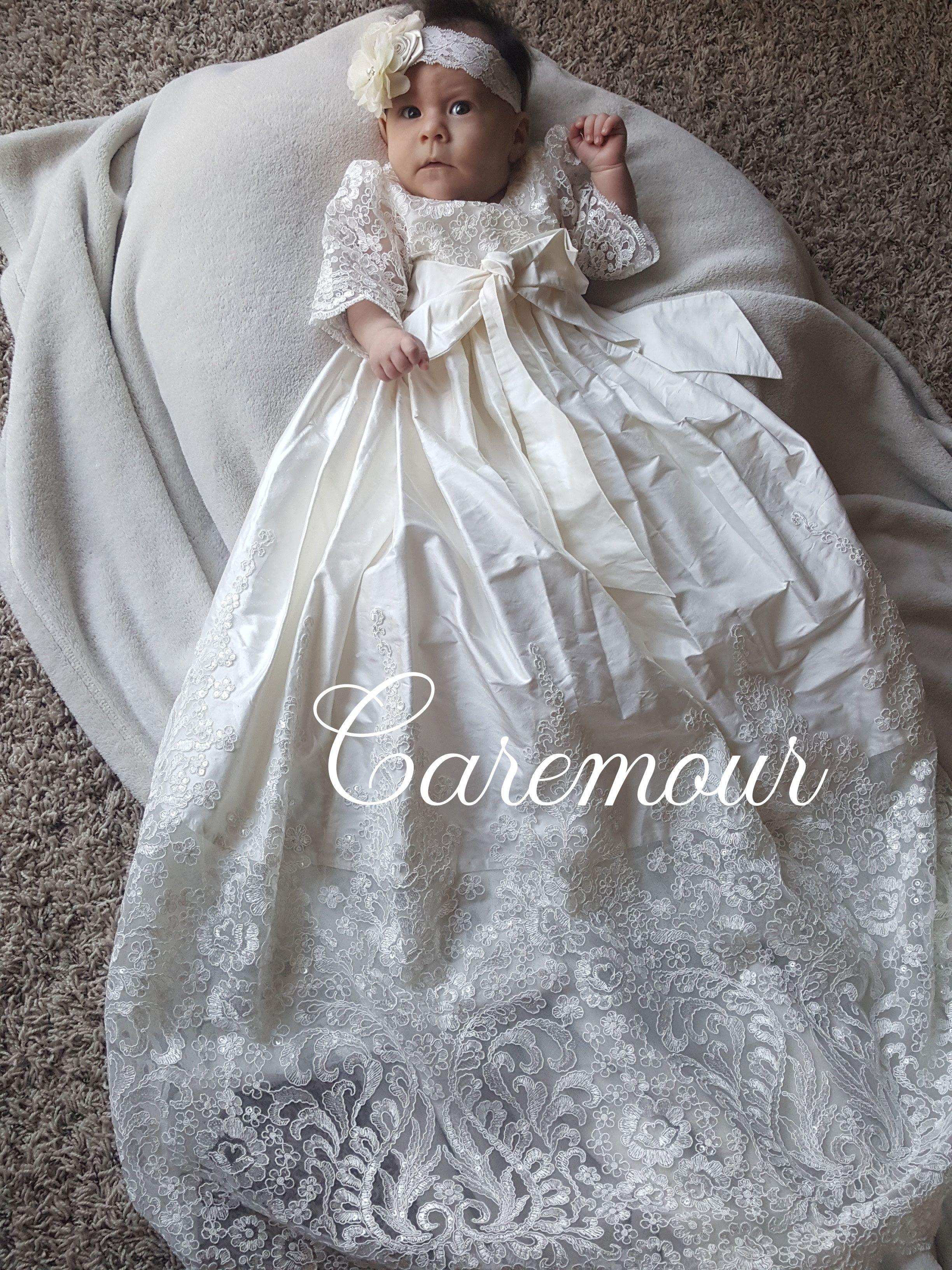 Christening dress, Christening gown, Baptism Gown, Baptism dress ...