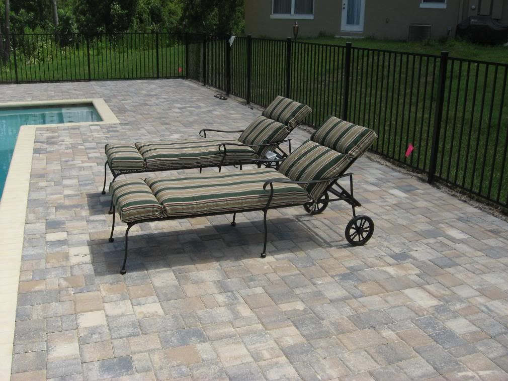 deck - flagstone pavers in cream/beige/charcoal. new england