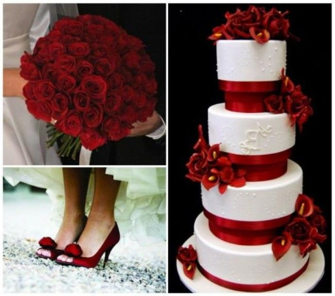 Wedding Cake Royal Blue And Red White Gold