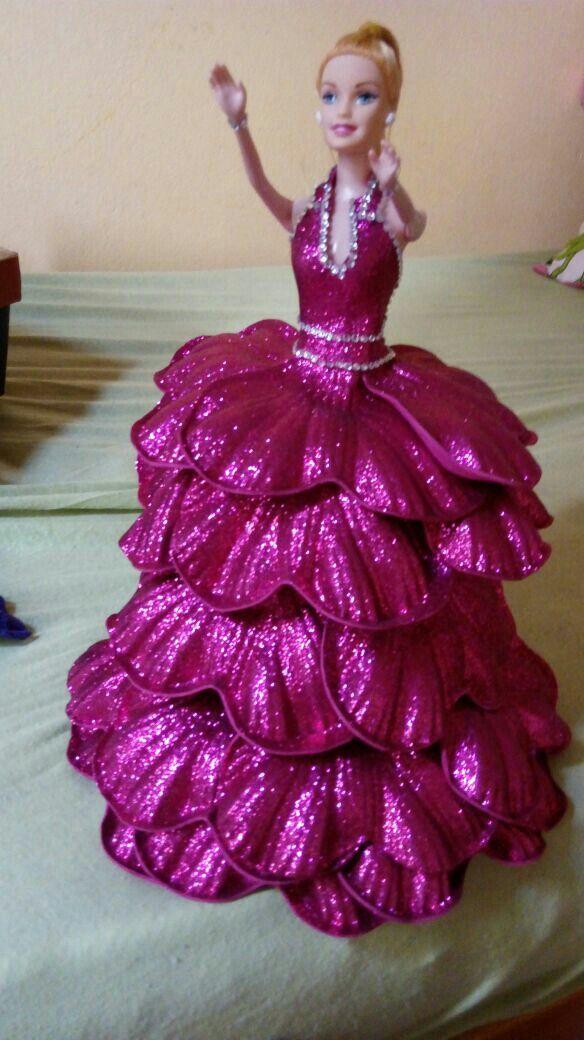 Dorable Vestido De Fiesta Hecha De Cinta Adhesiva Molde - Ideas para ...
