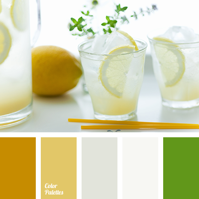 Bright Green, Dirty Saffron, Dirty White, Dirty Yellow, Gray Color,