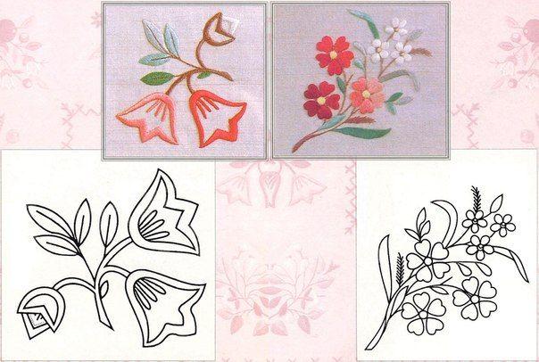 patrones para bordar flores-6 | Bordados | Pinterest | Patrones