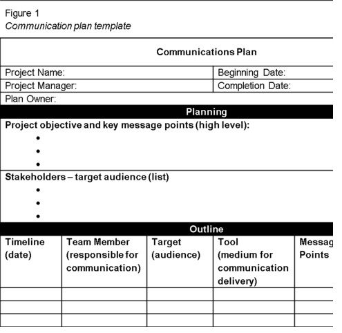 Get Project Communication Plan Template Spreadsheet u2013 Excel - sample user manual template
