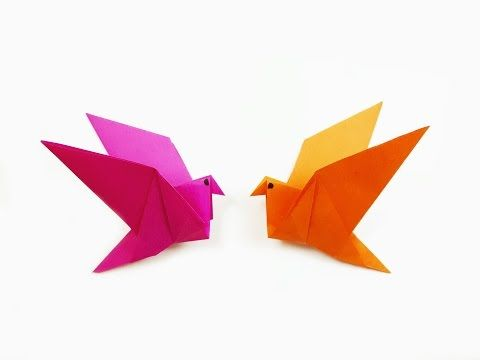 How to make a paper Bird? (easy origami) - YouTube | 360x480
